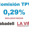 Paga lo justo por tu TPV. Comisión exclusiva del 0,29% para socios - La Viña