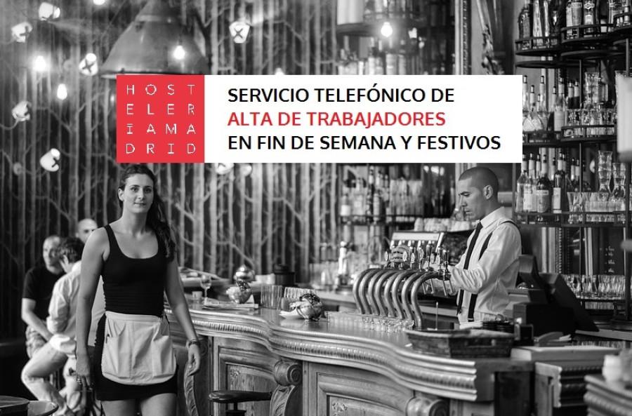 Se acercan días festivos y puedes dar de alta a tus trabajadores todos los días! - Hostelería Madrid