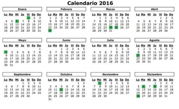Calendario 206.Calendario Laboral 2016 Hosteleria Madrid