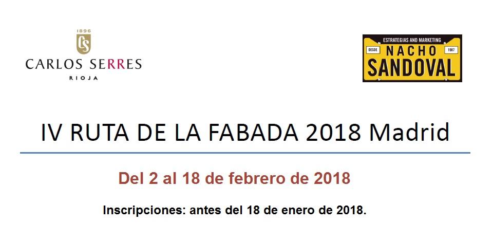 Participa en la Ruta de la Fabada del 2 al 18 de febrero en la capital - La Viña