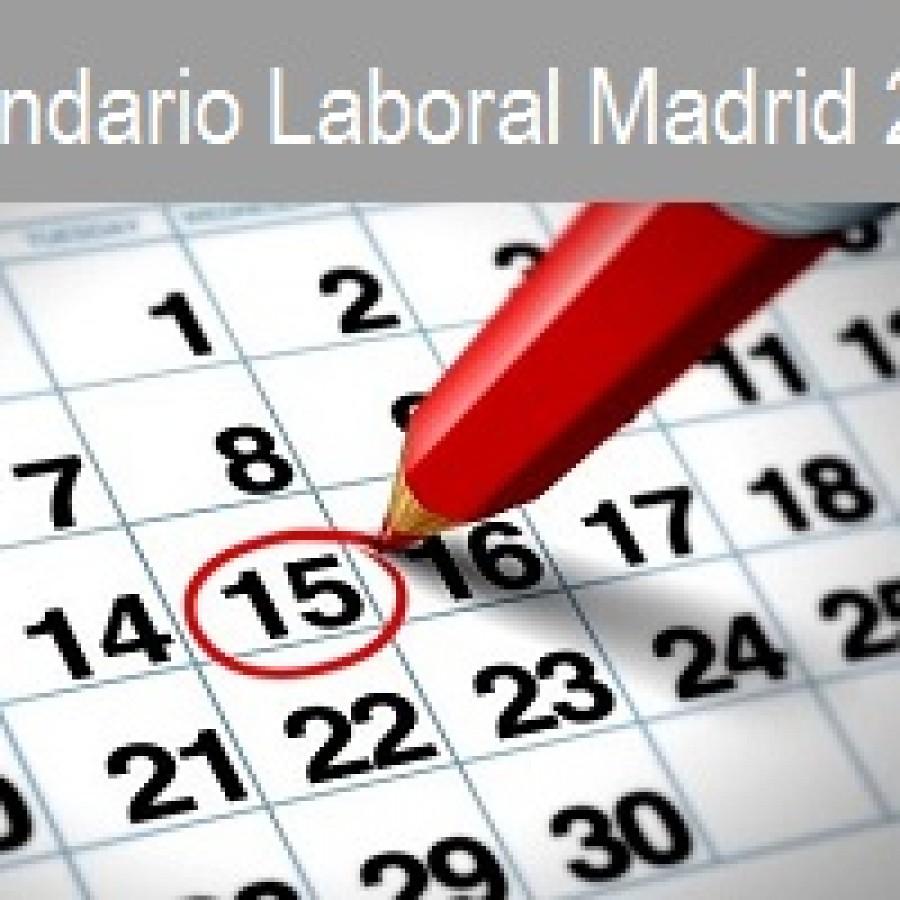 Calendario Laboral 2017 - Hostelería Madrid