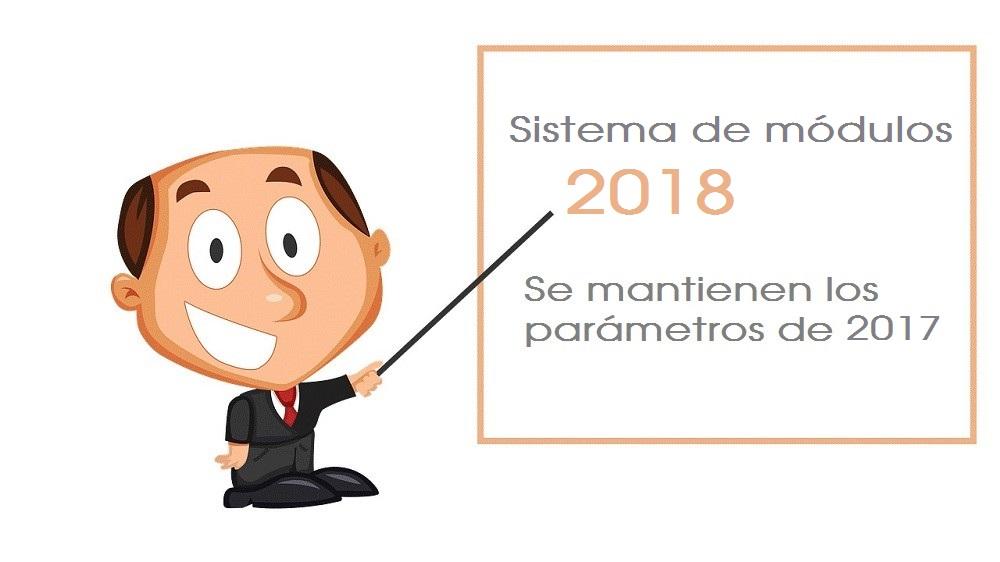 El sistema de módulos mantiene en 2018 los parámetros de 2017 - La Viña