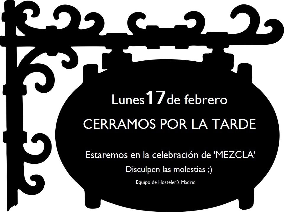 Mezcla'20: Las oficinas de la asociación permanecerán cerradas el lunes 17 de febrero por la tarde - La Viña