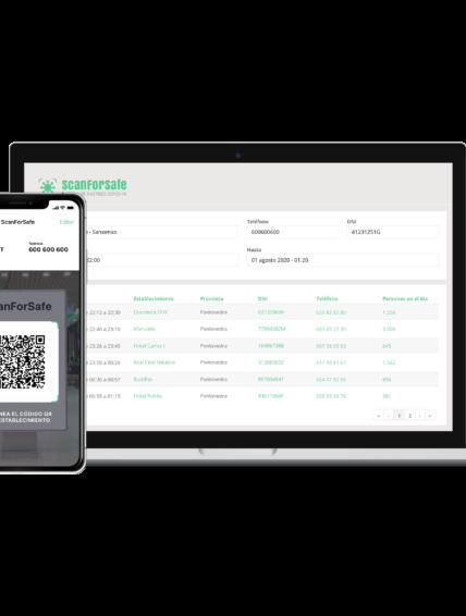 La startup gallega ScanForSafe desarrolla una app para garantizar el sistema de rastreo de la Covid-19.