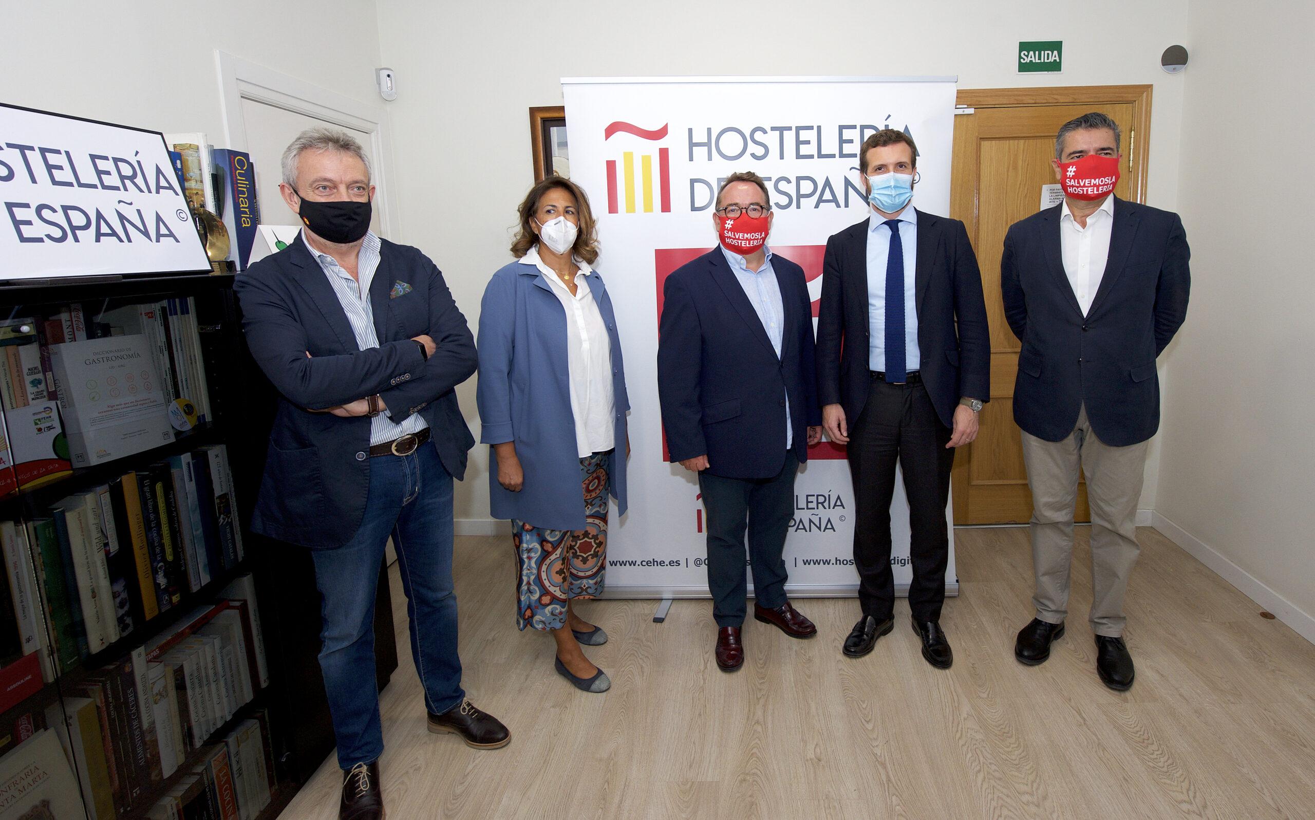 Pablo Casado participa en el Comité Ejecutivo de Hostelería de España - La Viña
