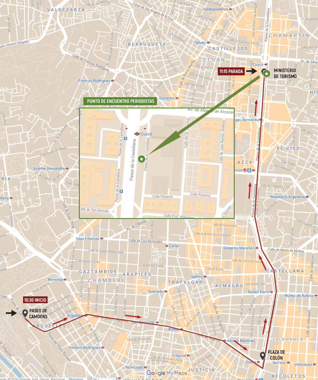 Caravana-protesta en defensa de la hostelería - La Viña
