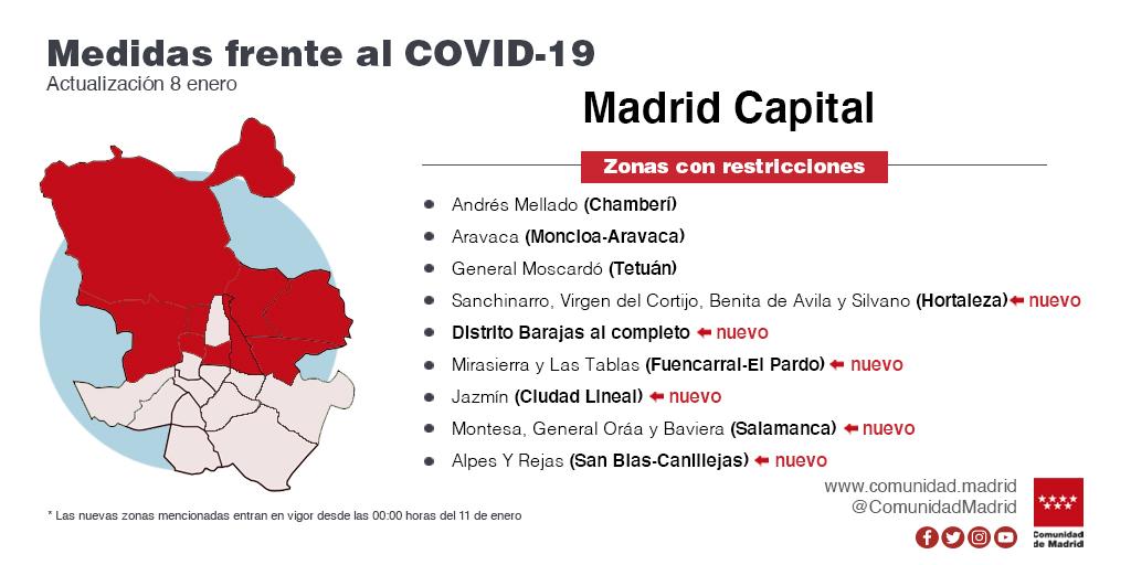 CAM amplía restricciones a 23 zonas básicas de salud y nueve localidades - La Viña