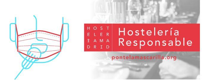 Hostelería Madrid pone en marcha la iniciativa hostelería responsable para concienciar a los clientes sobre el uso de la mascarilla - La Viña