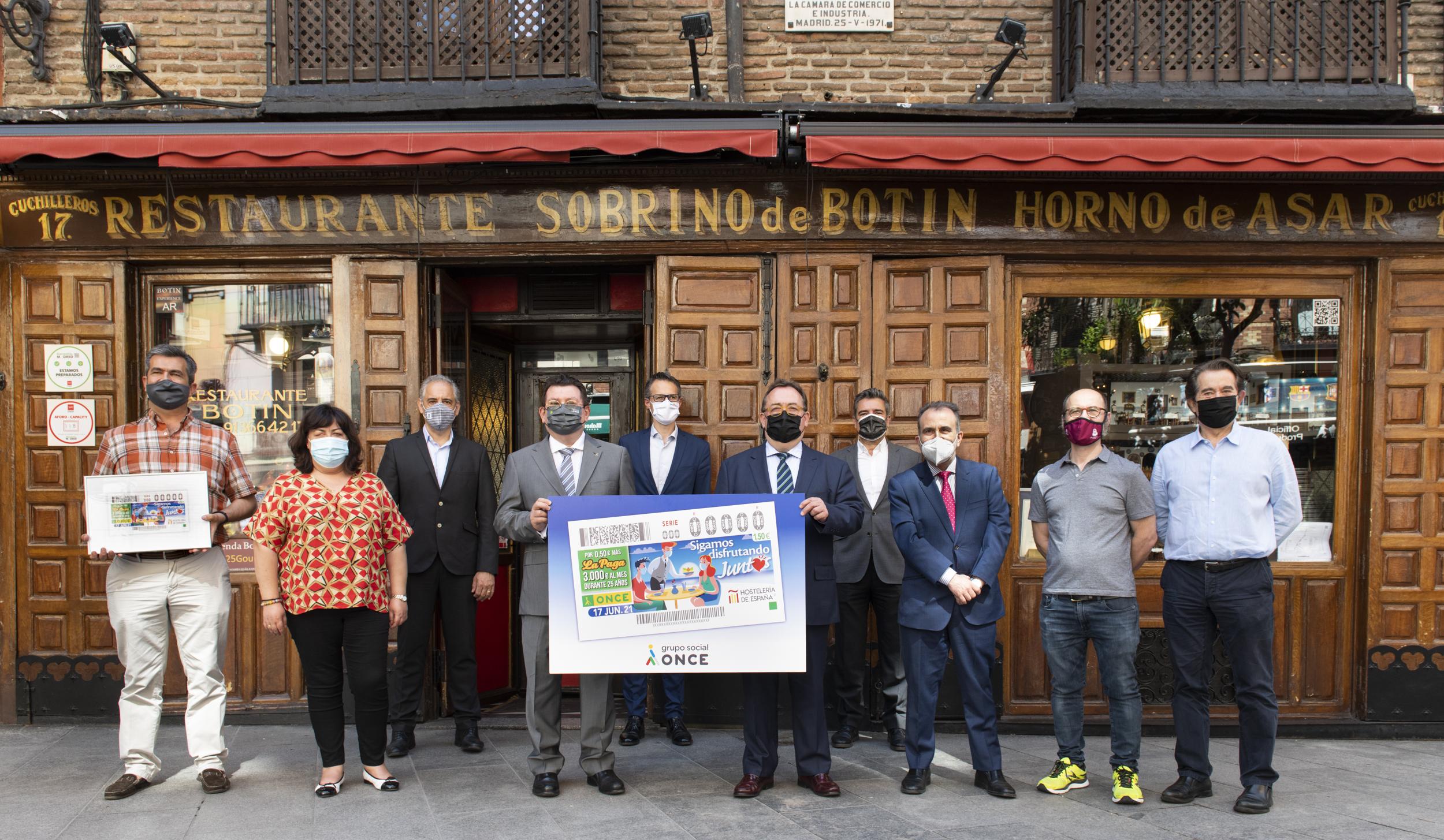La ONCE dedica un cupón en apoyo a la hostelería para que 'Sigamos disfrutando juntos' - La Viña